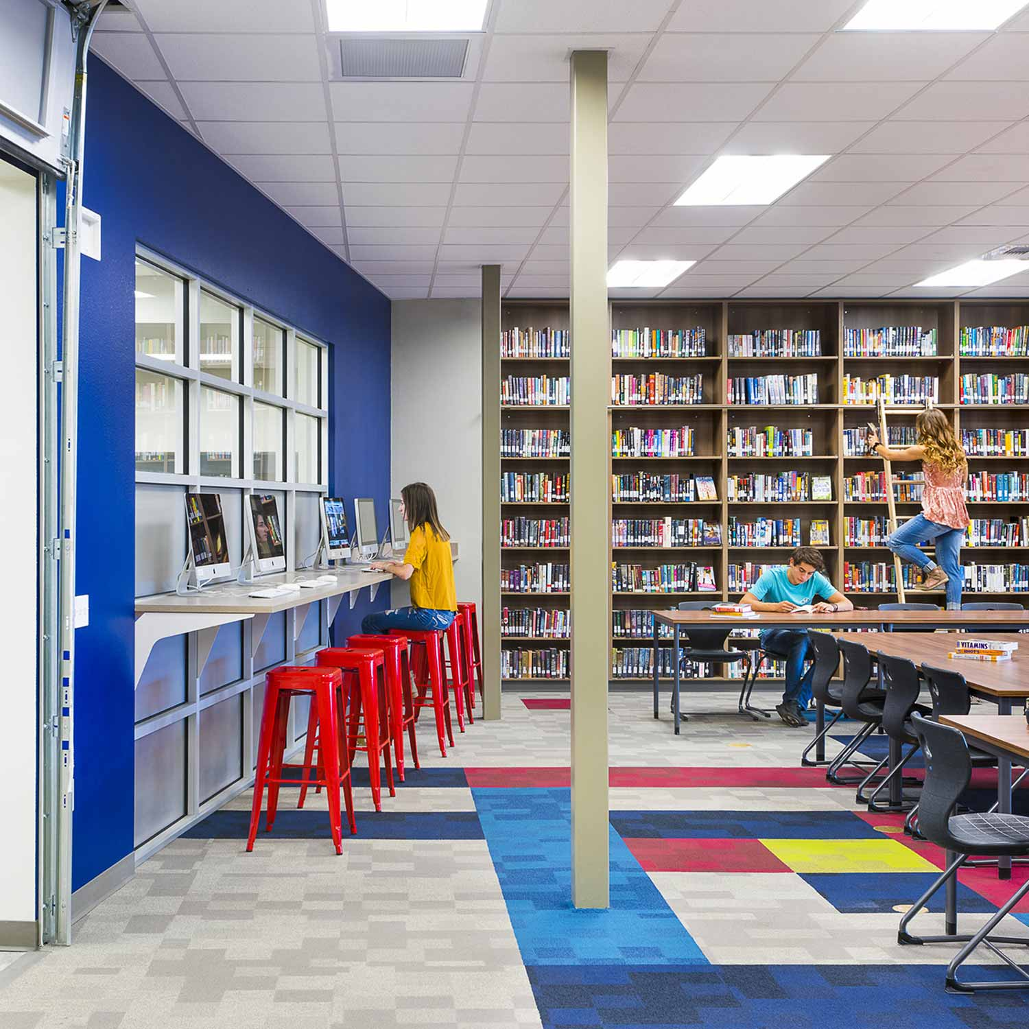 Education design (school library) for Bigfork High School in Bigfork, Montana