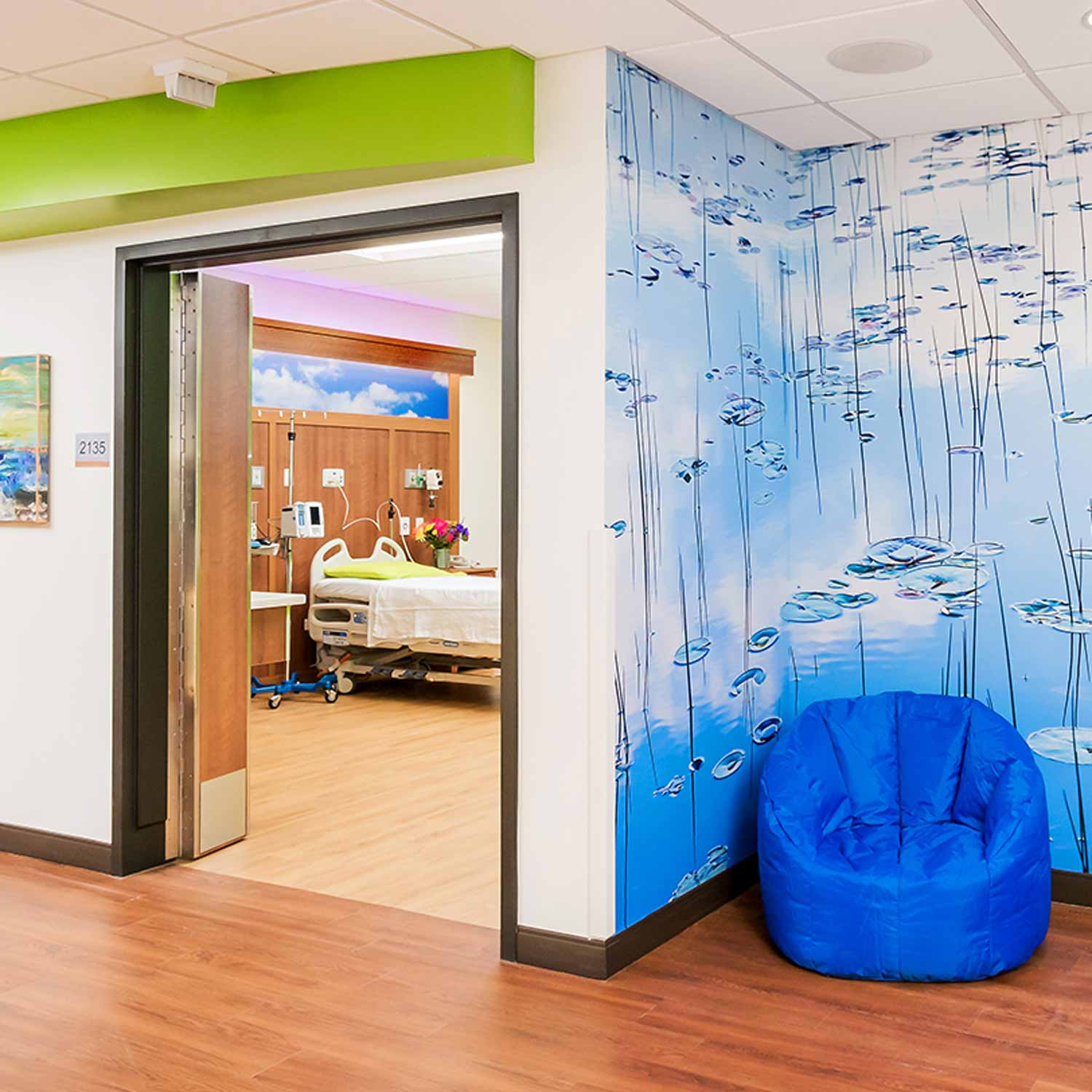 Healthcare design of patient rooms at Billings Clinic in Billings, Montana