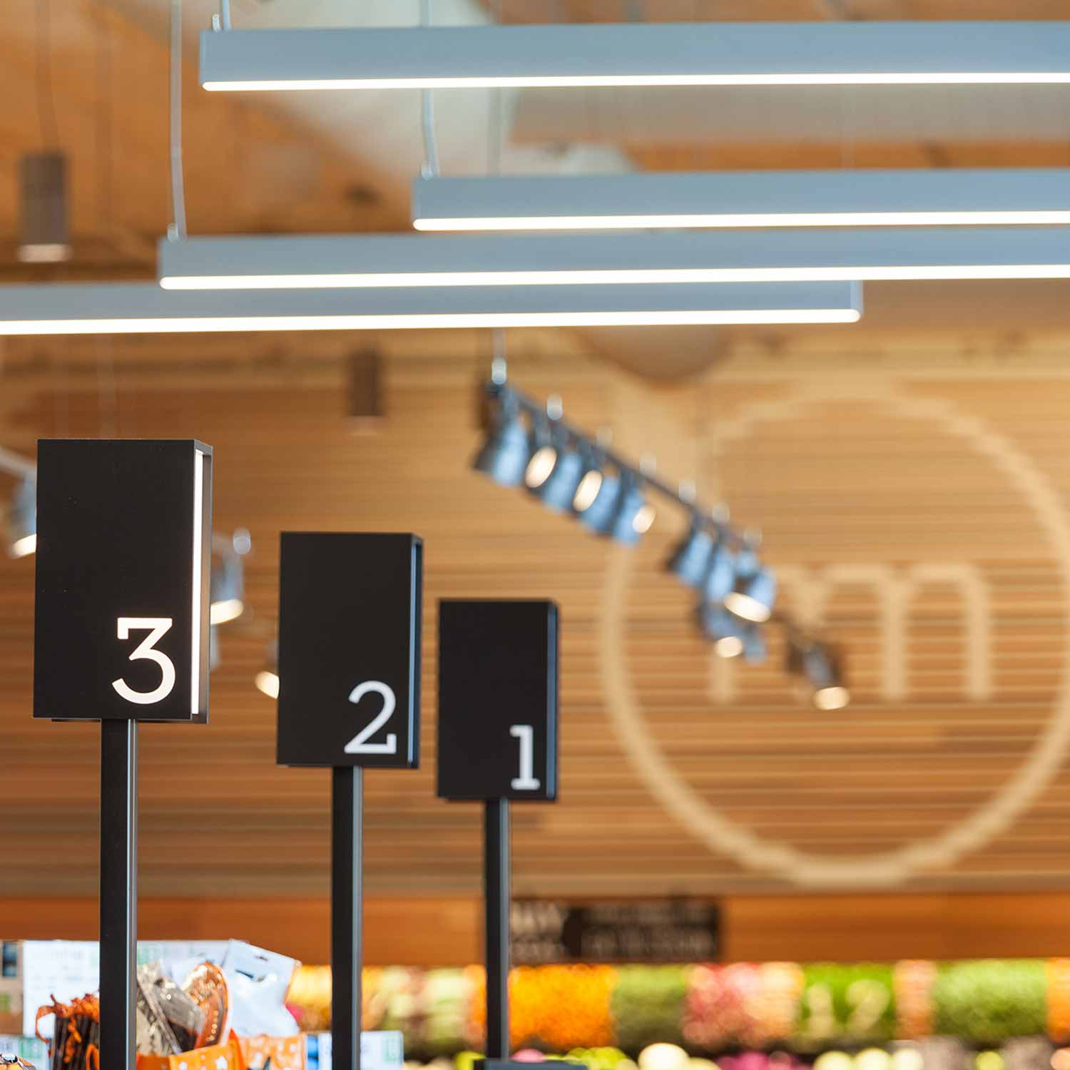 Retail design for Metropolitan Market in Sammamish, Washington