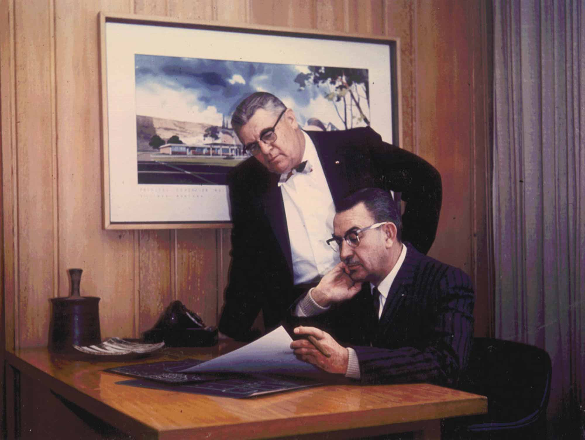 CTA Architects Engineers' founders, Ralph H. Cushing and Everett O. Terrell